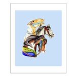 Carousel Horses Small Poster