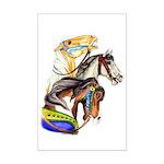 Carousel Horses Mini Poster Print