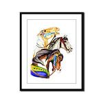 Carousel Horses Framed Panel Print