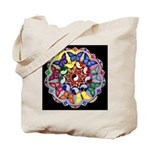 Rainbow Yin/Yang Butterfly Tote Bag