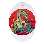 Dragon guitar (a) Ornament (Oval)