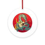 Dragon guitar (a) Ornament (Round)