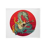 Dragon guitar (a) Throw Blanket