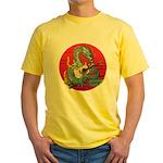 Dragon guitar (a) Yellow T-Shirt