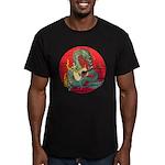 Dragon guitar (a) Men's Fitted T-Shirt (dark)