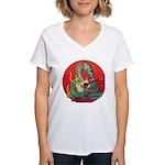 Dragon guitar (a) Women's V-Neck T-Shirt
