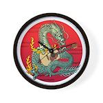 Dragon guitar (a) Wall Clock