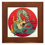 Dragon guitar (a) Framed Tile