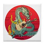 Dragon guitar (a) Tile Coaster