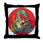 Dragon guitar (a) Throw Pillow