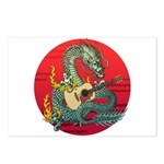 Dragon guitar (a) Postcards (Package of 8)