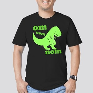 om NOM NOM dinosaur chomps Men's Fitted T-Shirt (d