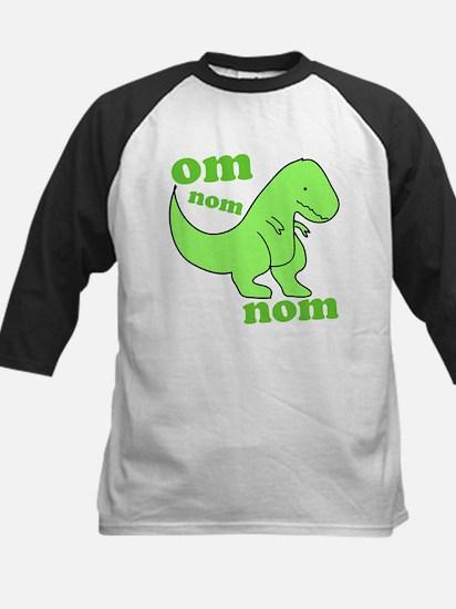 om NOM NOM dinosaur chomps Kids Baseball Jersey