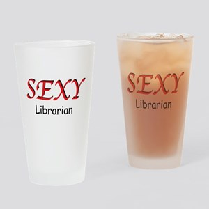 Sexy Librarian Drinking Glass