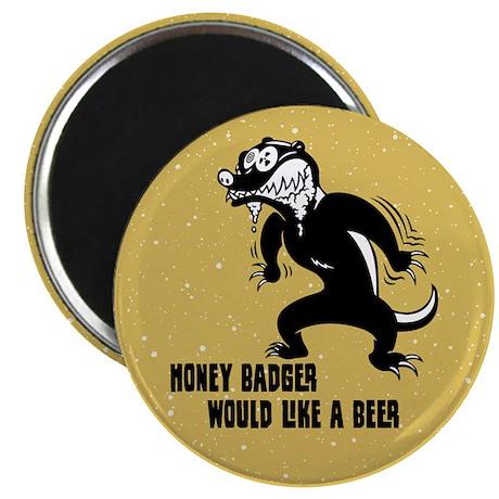"""Honey Badger Wants Beer 2.25"""" Magnet (100 pack)"""