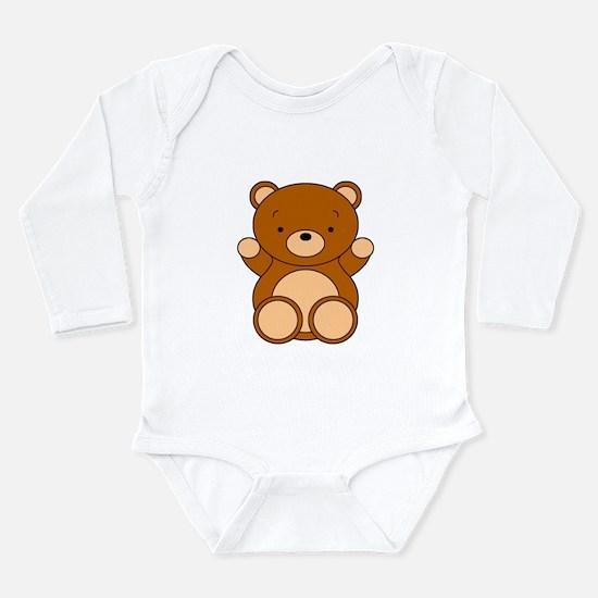 Cute Cartoon Bear Long Sleeve Infant Bodysuit