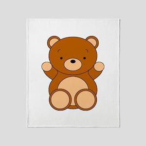 Cute Cartoon Bear Throw Blanket