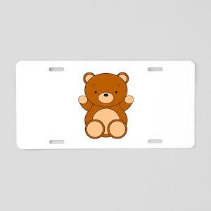 Cute Cartoon Bear Aluminum License Plate