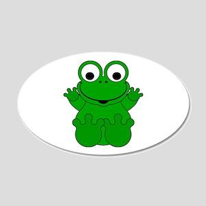 Cute Cartoon Frog 22x14 Oval Wall Peel