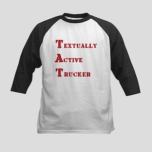 Textually Active Trucker Kids Baseball Jersey