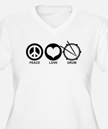 Peace Love Drum T-Shirt