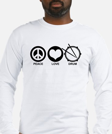 Peace Love Drum Long Sleeve T-Shirt