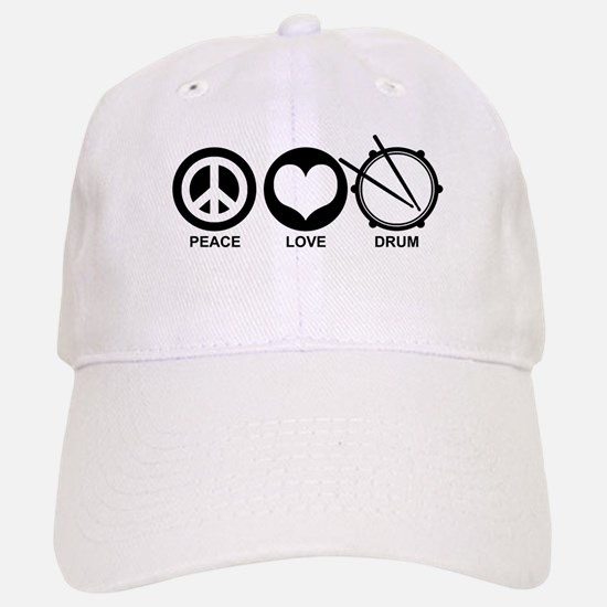 Peace Love Drum Baseball Baseball Cap