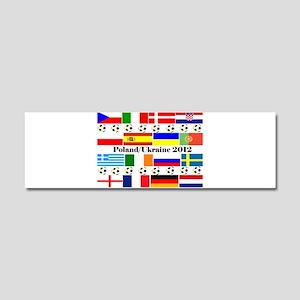 Football Flag Design Car Magnet 10 x 3