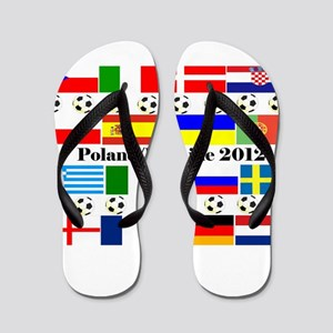 Football Flag Design Flip Flops