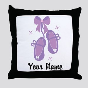 Customized Ballet Slippers Throw Pillow