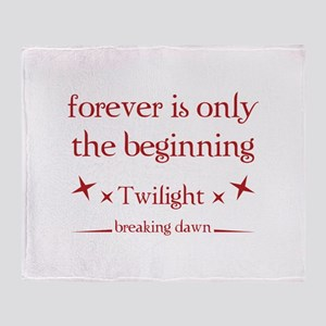 Forever is only the beginning Throw Blanket