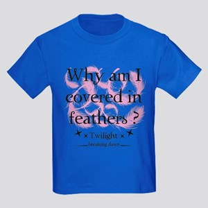 Why am I covered in feathers? Kids Dark T-Shirt