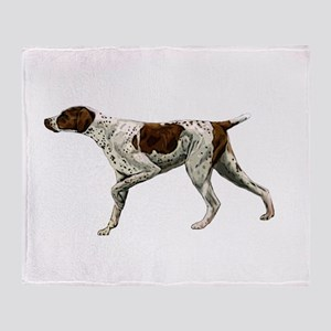 german shorthair pointing Throw Blanket