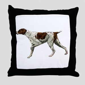 german shorthair pointing Throw Pillow