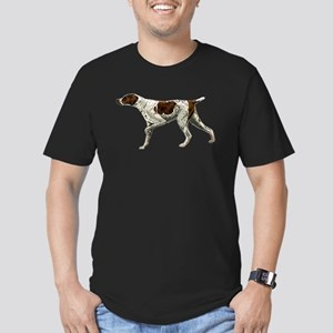 german shorthair pointing Men's Fitted T-Shirt (da