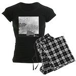 Newtons (no text) Women's Dark Pajamas