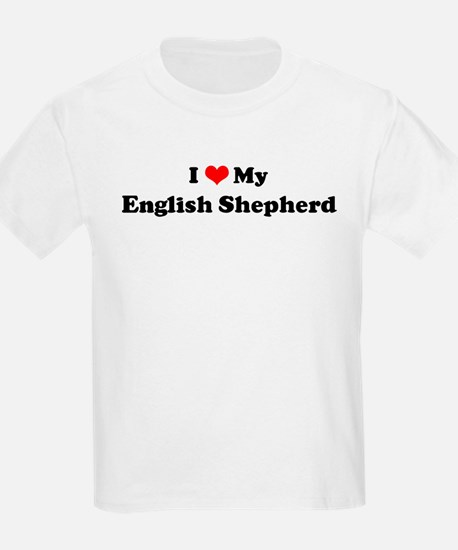 I Love English Shepherd Kids T-Shirt