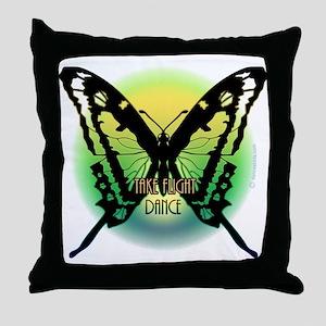 Take Flight. Dance by Danceshirts.com Throw Pillow