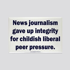 Journalism lost its integrity Rectangle Magnet
