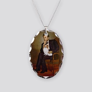 Lincoln's Papillon Necklace Oval Charm
