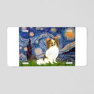 Starry Night Papillon (f) Aluminum License Plate