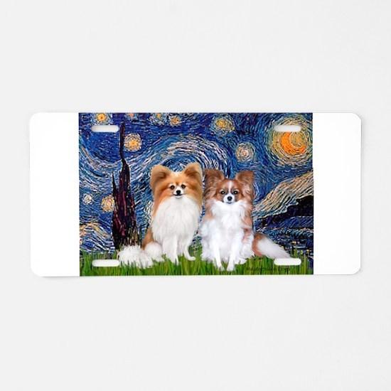 Starry Night & Papillon Aluminum License Plate