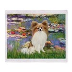 Lilies & fawn Papillon Throw Blanket