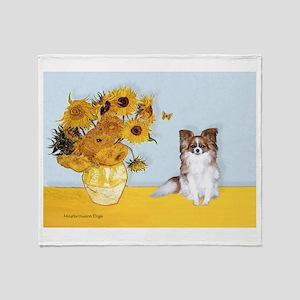 Sunflowers / Papillon(f) Throw Blanket