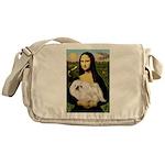 Mona /Pekingese (w) Messenger Bag