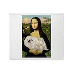 Mona /Pekingese (w) Throw Blanket