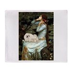 Ophelia /Pekingese(w) Throw Blanket