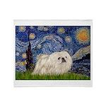 Starry / Pekingese(w) Throw Blanket