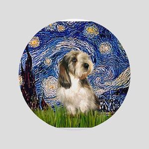 """Starry Night / PBGV 3.5"""" Button"""