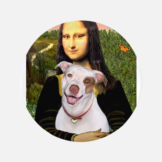 "Mona's Pitbull 3.5"" Button"